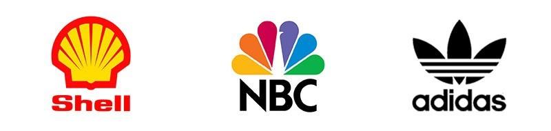 لوگوی برند آدیداس، ان بی سی و شل